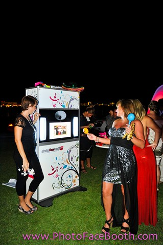 booth at a wedding
