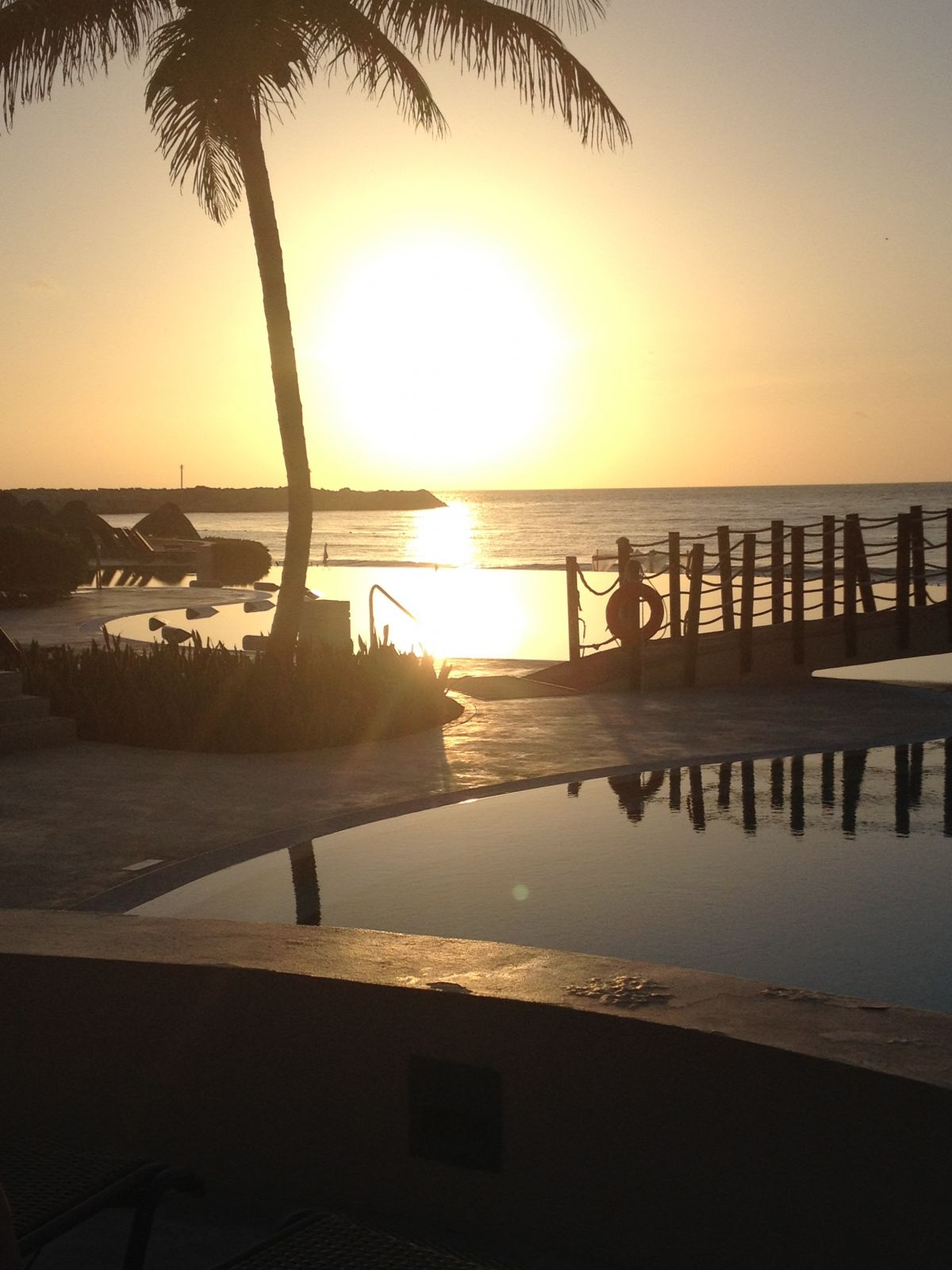 Sunrise by the Pool..