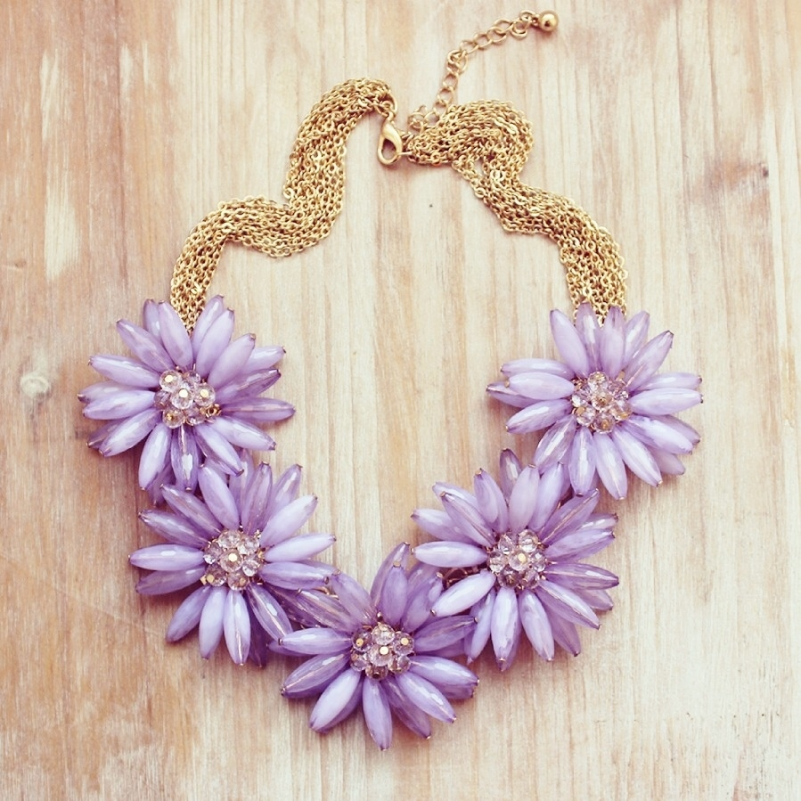 radiant orchid flower necklace