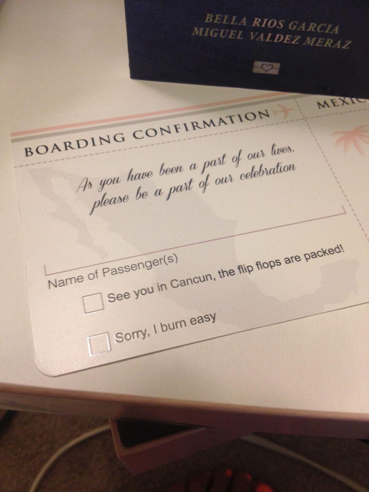 Our guests boarding pass