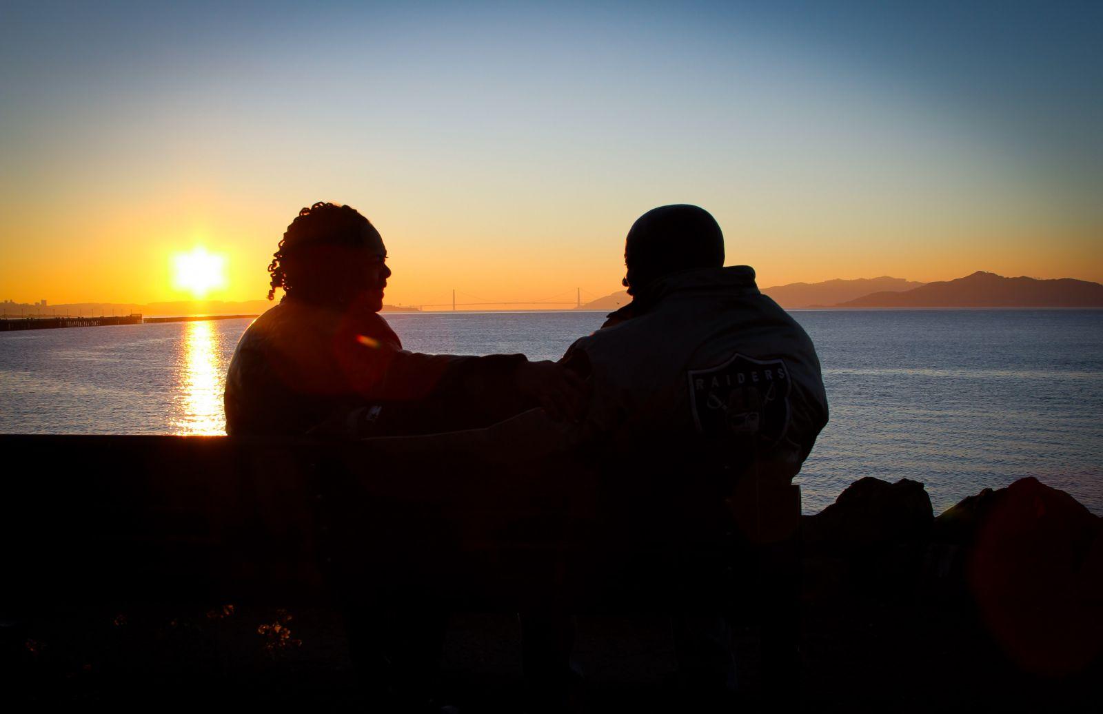 Golden Gate Bridge Sunset Love