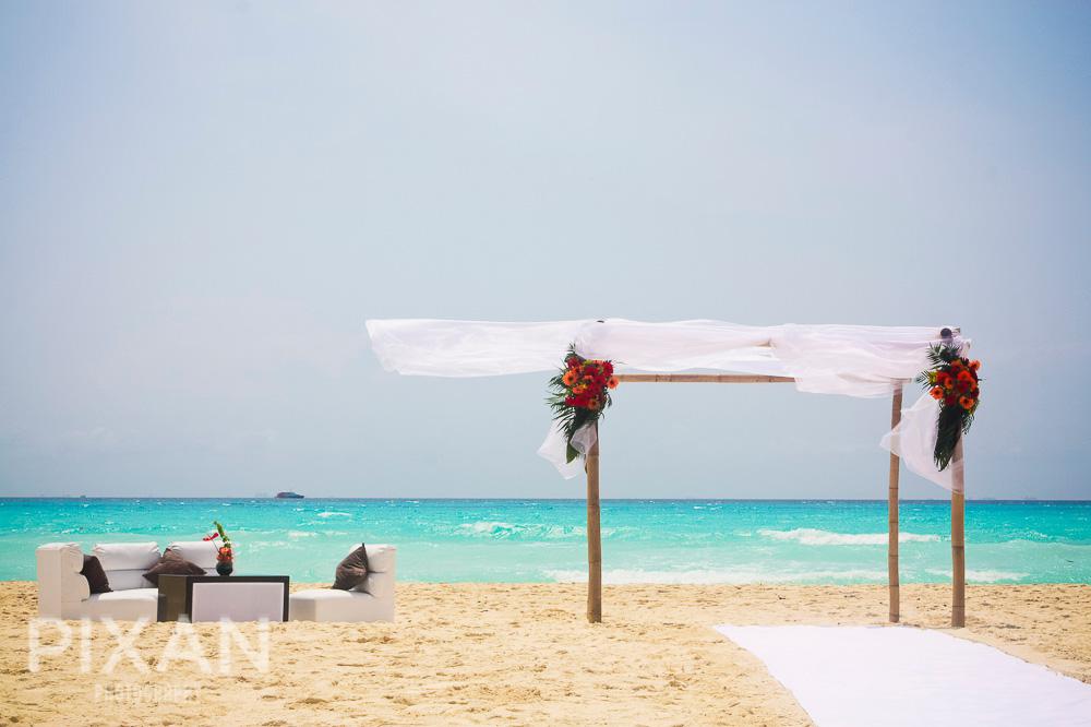 Riu Palace Riviera  Maya wedding venues and setups 132013