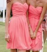 My bridesmaid's dress color:  Coral Reef