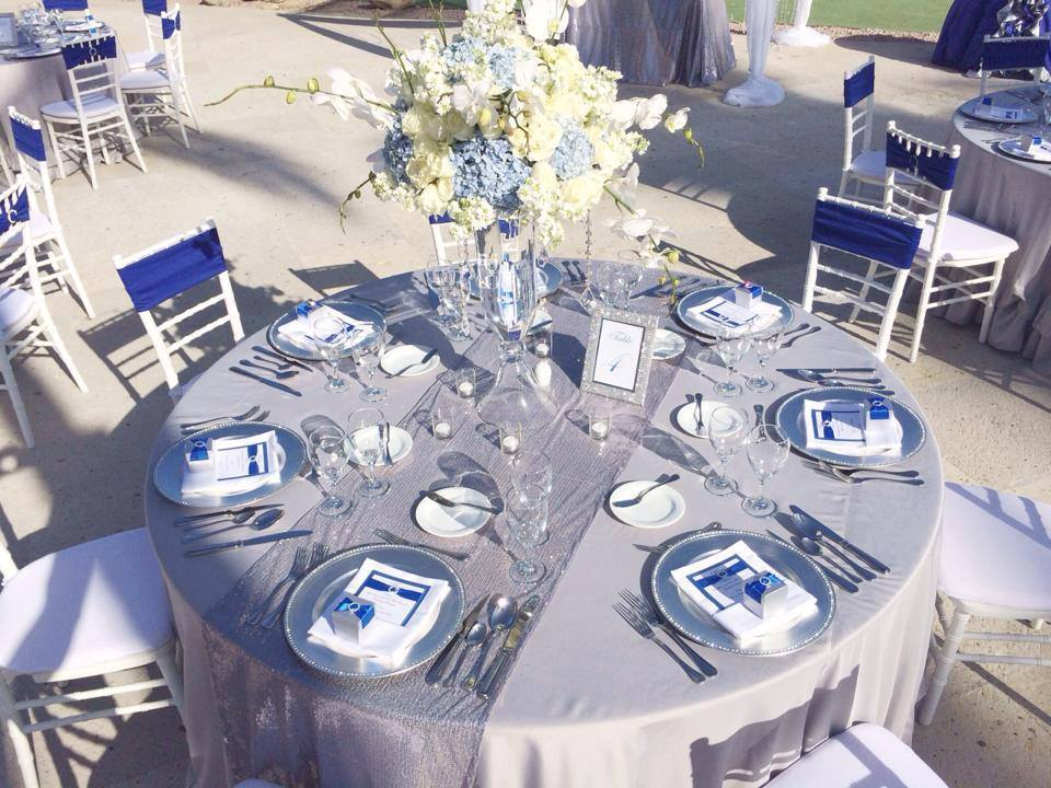Our Guest Tables Set Up