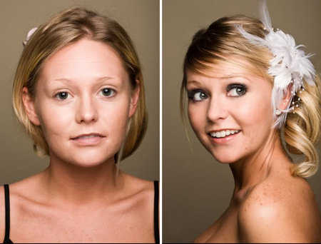 Bridal Airbrush Makeup diference