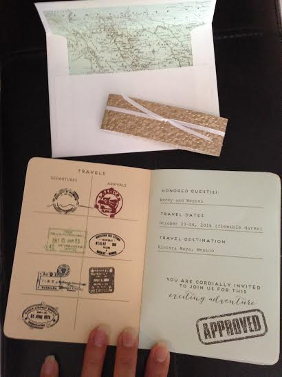 Passport Invitations Front page