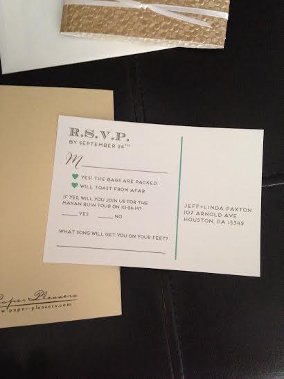 Back of RSVP card