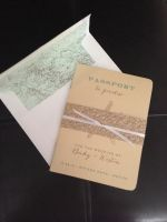 Passport Invitations with Belly Band