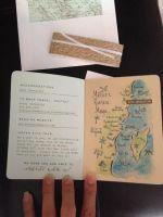Passport Invitations with Map