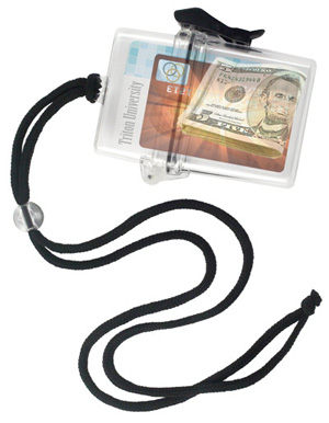 Water Resistant Key Card Holders with Adjustable Lanyards.