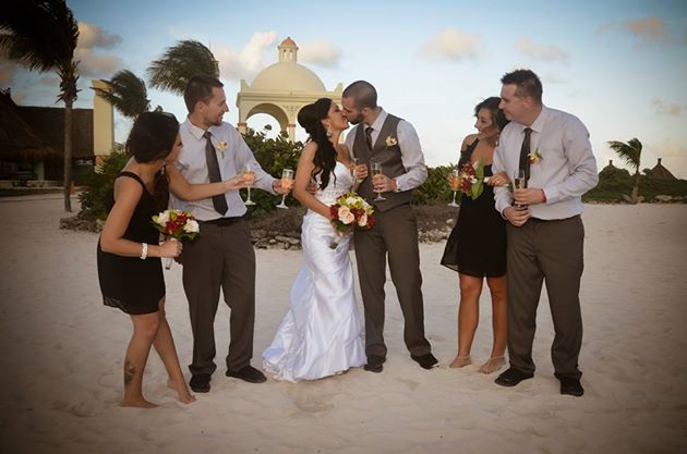Best Friends wedding Tulum Gazebo Dec 4 2013