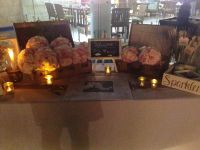 Entry table after flowers