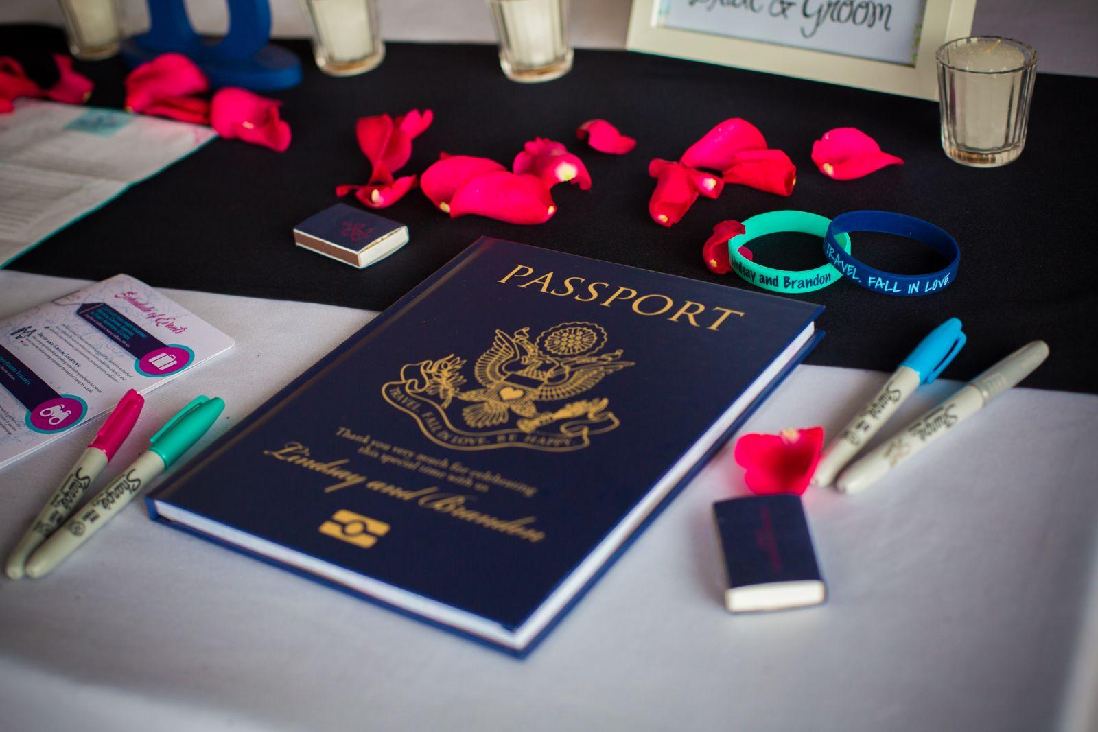 An original guest book for a destination wedding