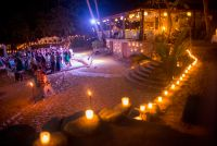 candles enhance the romantic atmosphere of Las Caletas