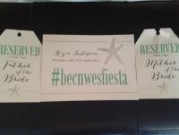 Instagram Signs and Mother/Father of the Bride/Groom Signs for Chairs at Ceremony