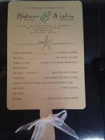 Program Fan for Ceremony