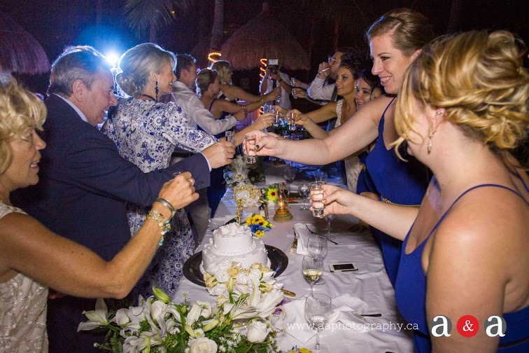 Vodka shots with bridal party - again Ukrainian heritage