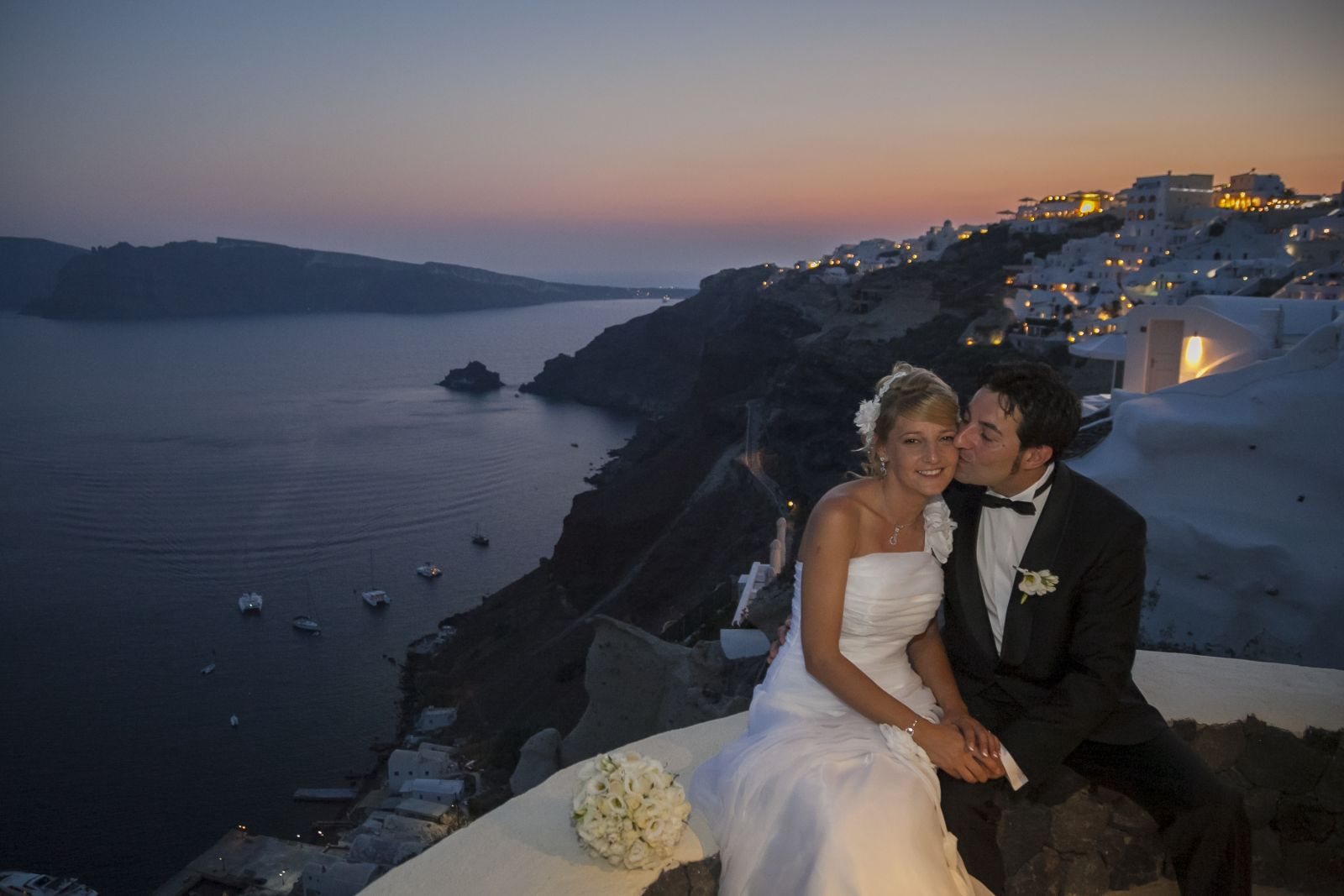 romantic wedding  Oia