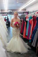 My wedding dress ???? (The day I tried it on)
