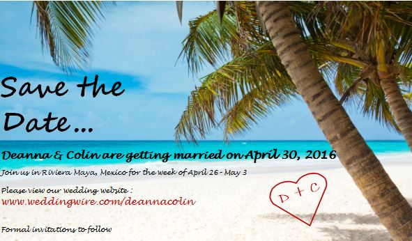 Email Save the Dates