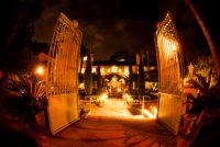 garden wedding venue night