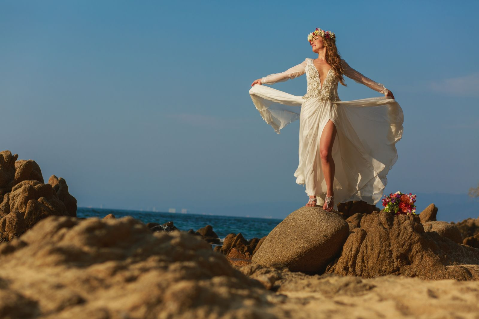 a unique and beautiful beach wedding style