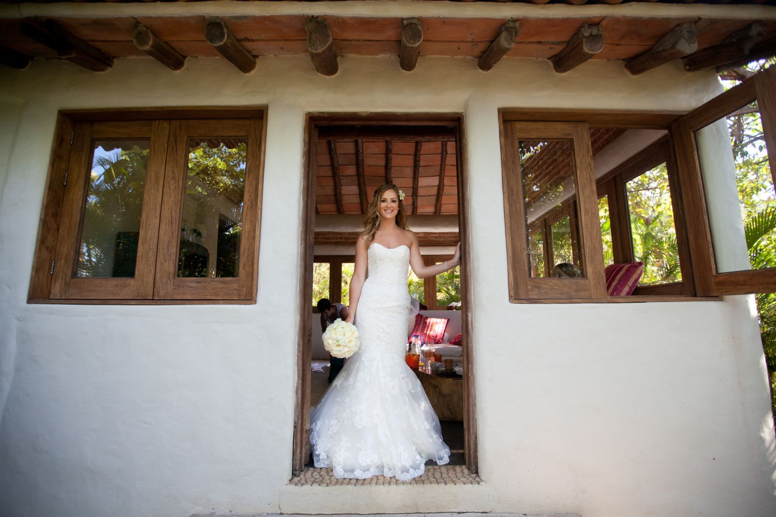 Ready for the big moment at the bridal suite.