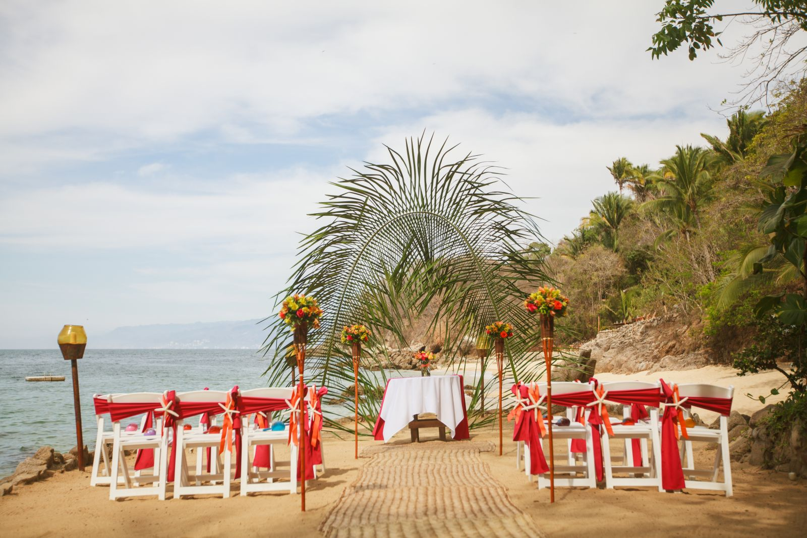 Paradise package ceremony.