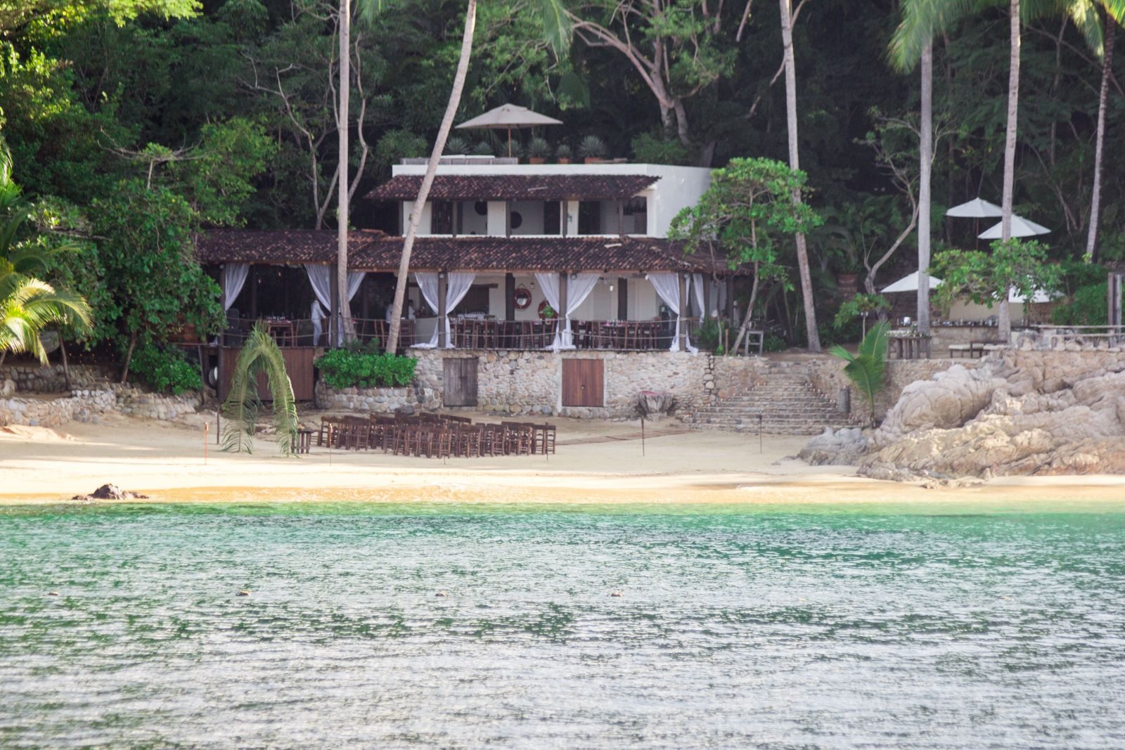 Private Wedding area on the beach.
