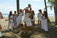 Beach wedding destination. Playa Linda