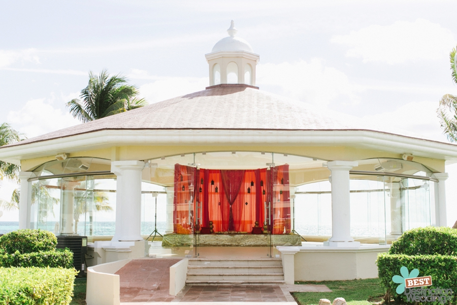 Mayian Ceremony setup for an Indian Destination Wedding