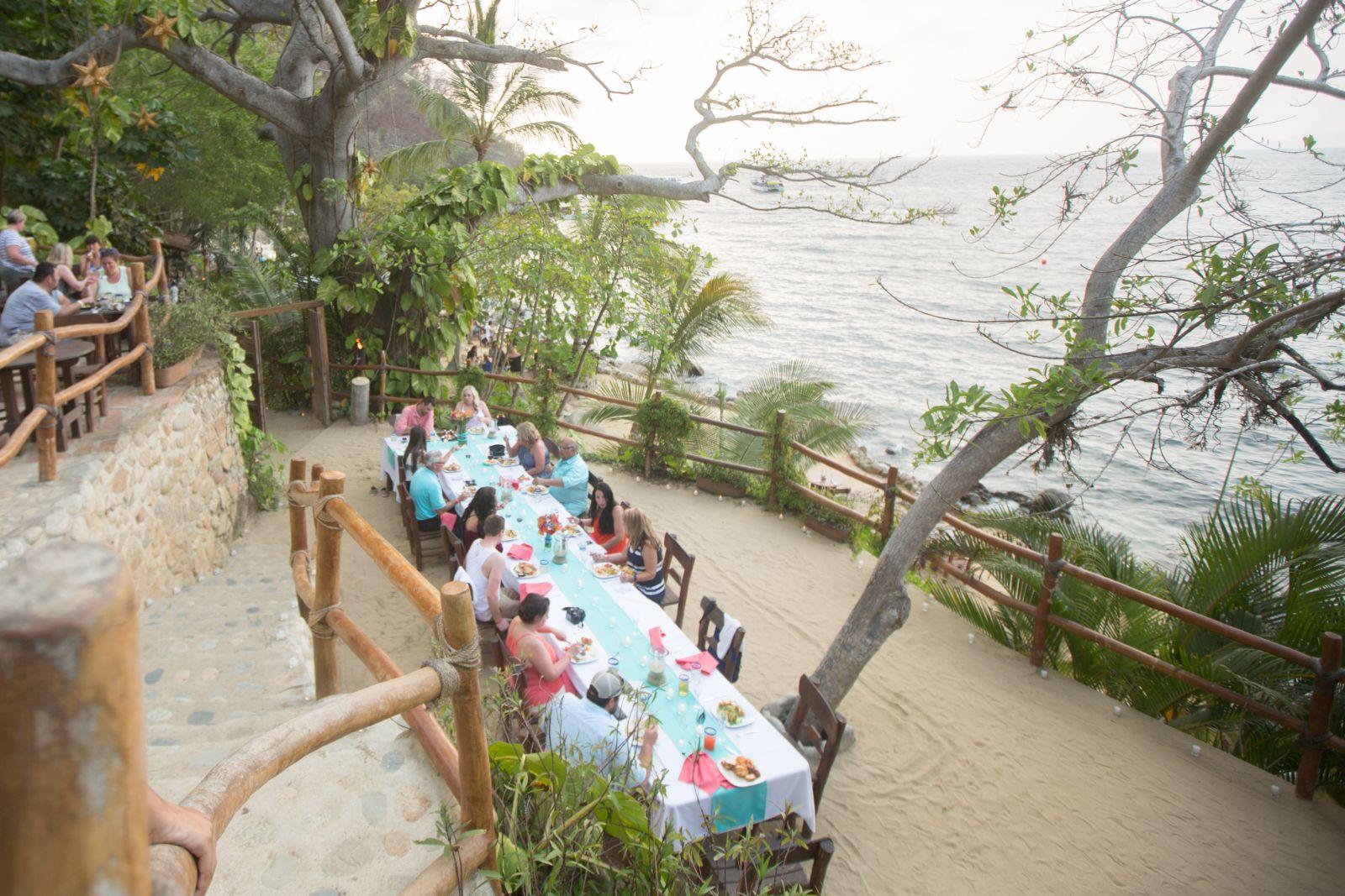 Dinner reception at las Caletas