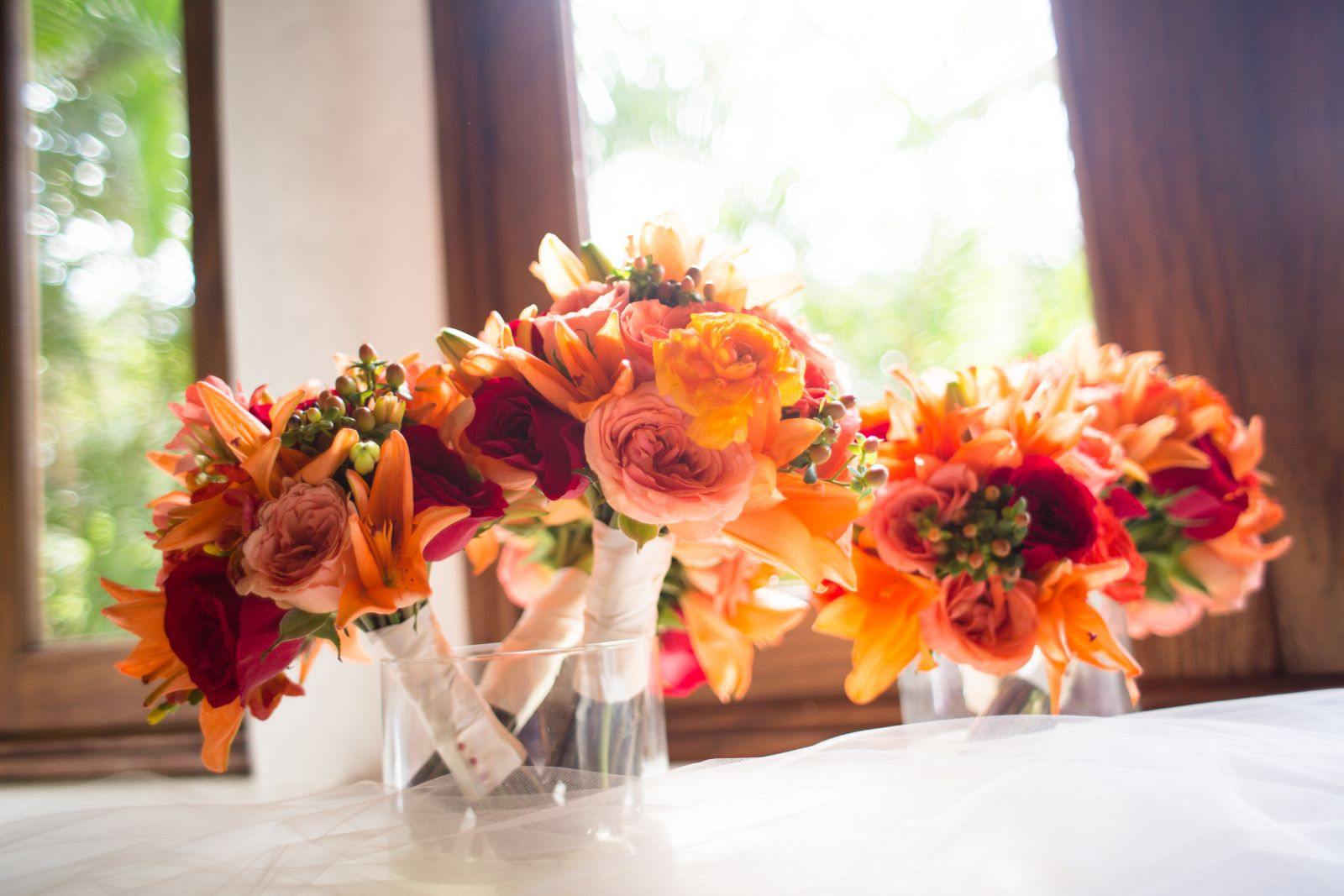 Flowers for bridal party!
