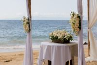 Ceremony Wedding decoration with flowers