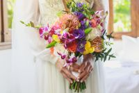 E&J  LasCaletasWeddings 72- Exotic bridal bouquet