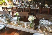 K&J , rustic and vintage reception set up by Adventure weddings, Las caletas