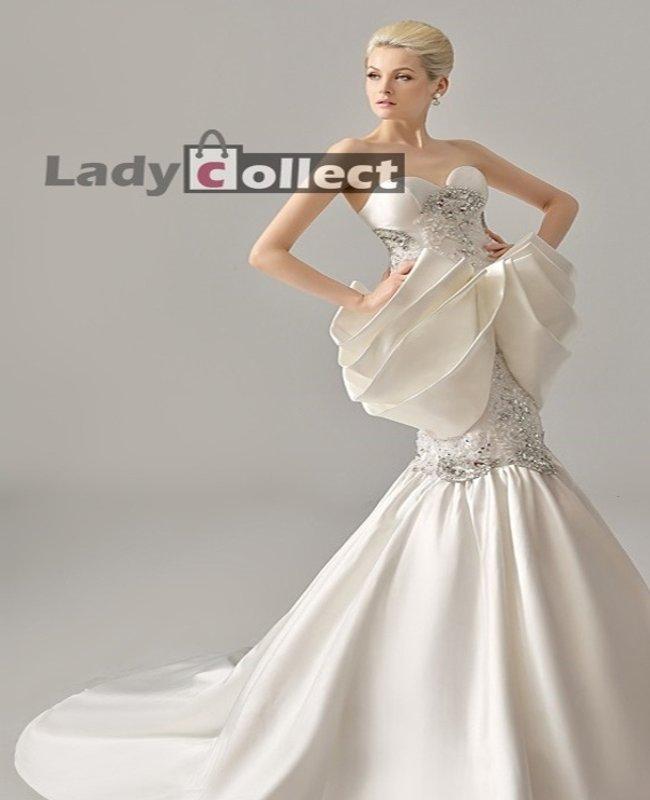 New Arrival Summer White Wedding Dress For Bride Custom High Grade Sheath Mermaid Dresses
