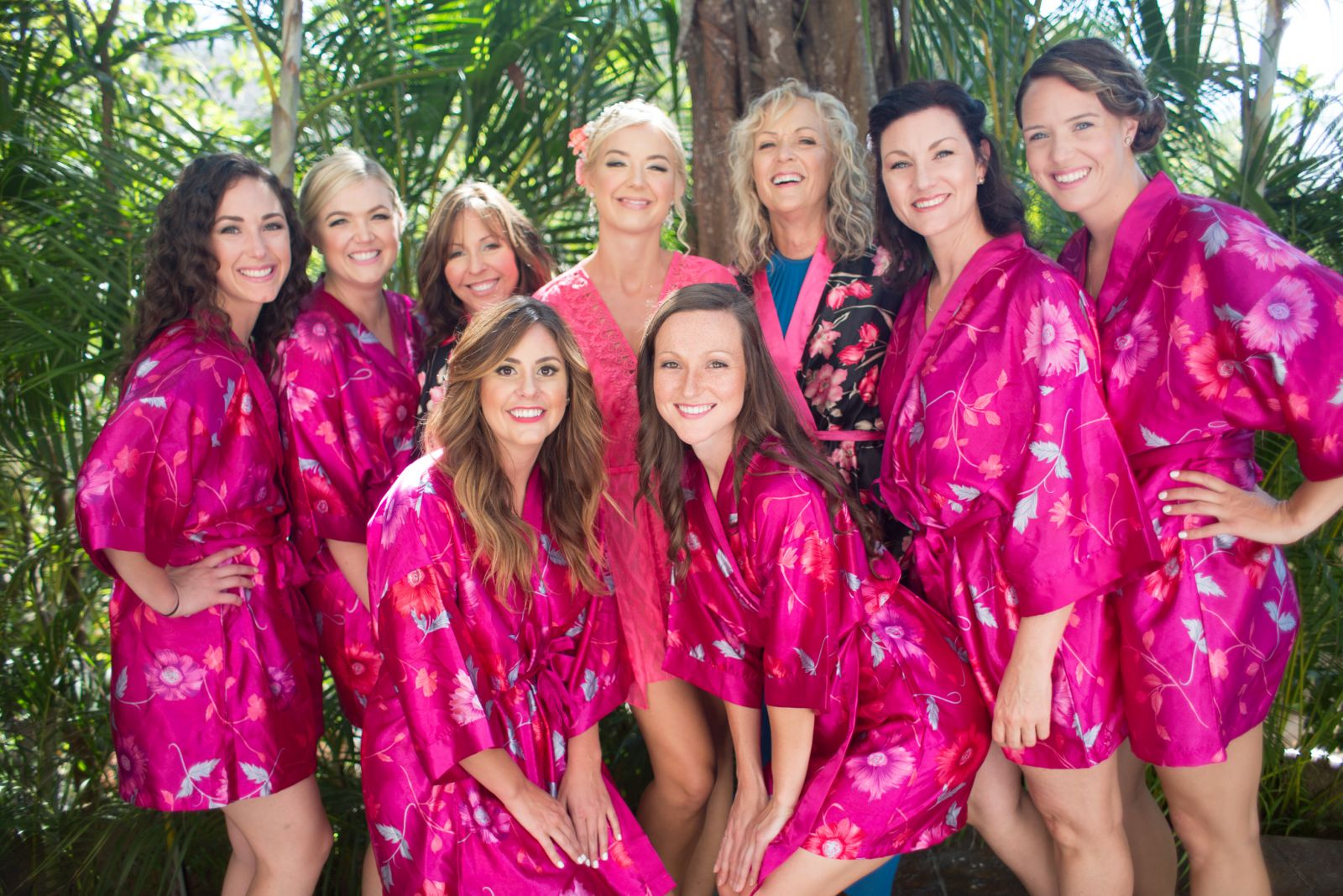 K&T pink robes for a relaxing time before the big moment!!