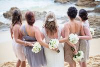 Bridesmaids- Gray dresses