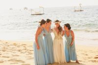 E&J 040516 LasCaletasWeddings, bridesmaids in blue