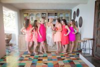 K&T bridesmais in pink