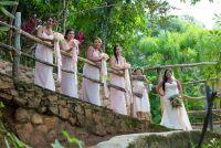 bridesmaids in pink blush
