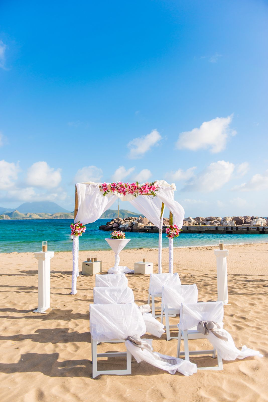 Destination Wedding Caribbean Beach Set UP