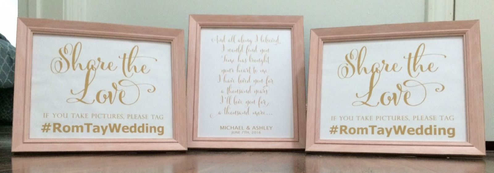8x10 blush frames