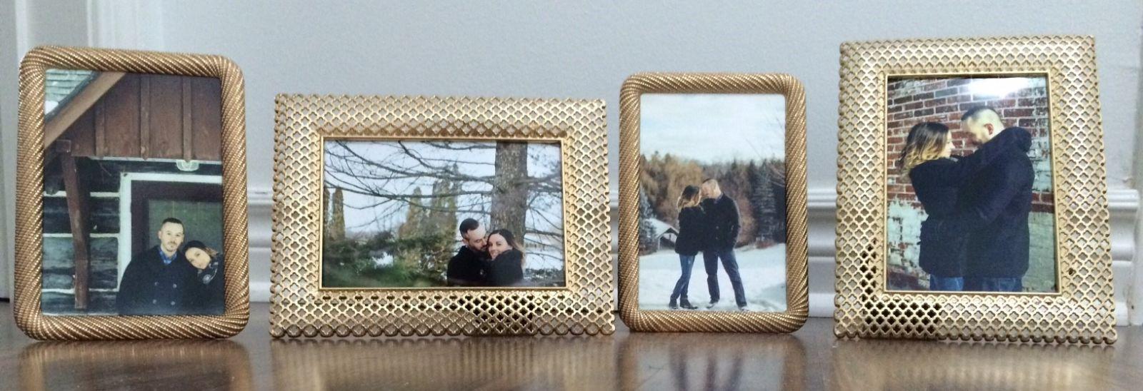 4x6 gold frames   2 designs