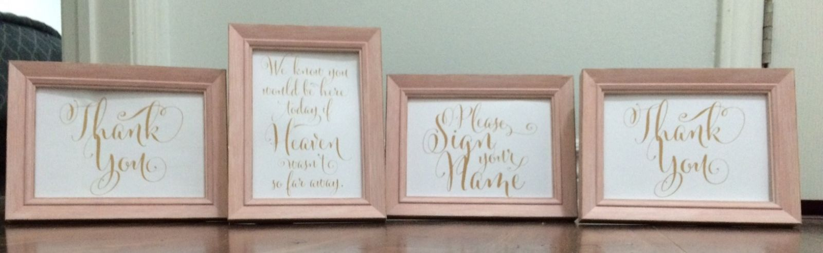 5x7 blush frames