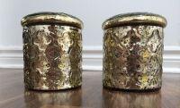 gold mercury jars vases