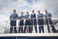 "On the private catamaran to ""Las Caletas"""