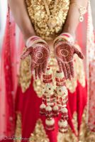 Beautiful Henna on Indian Bride