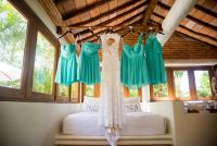 Bride and Bridesmaid´s dresses.